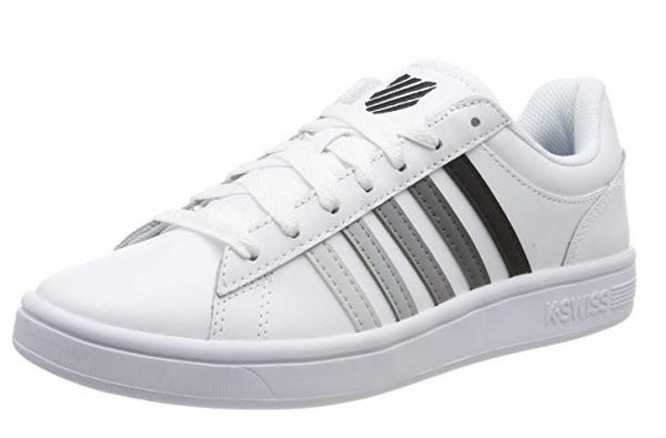 sports shoes f2041 7599b K-Swiss Court Winston Herren Sneaker (Weiß 191)