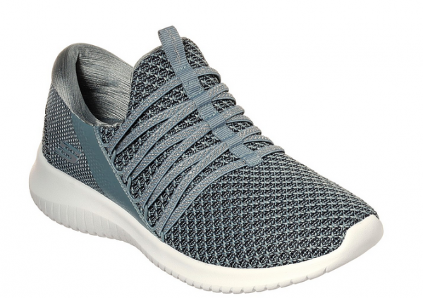 Skechers Ultra Flex - Bright Future Damen Sneaker (Grau-SLT)