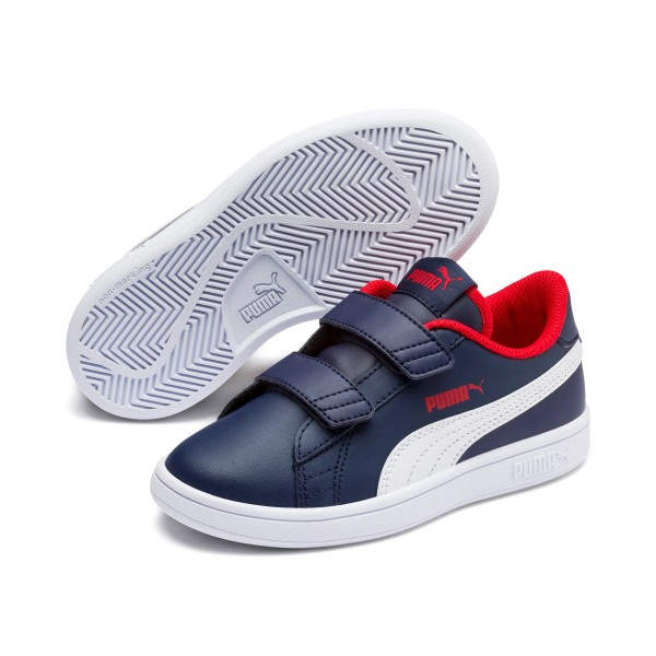 Puma Smash v2 L V PS Kinder Sneaker 365173 (Blau 13)