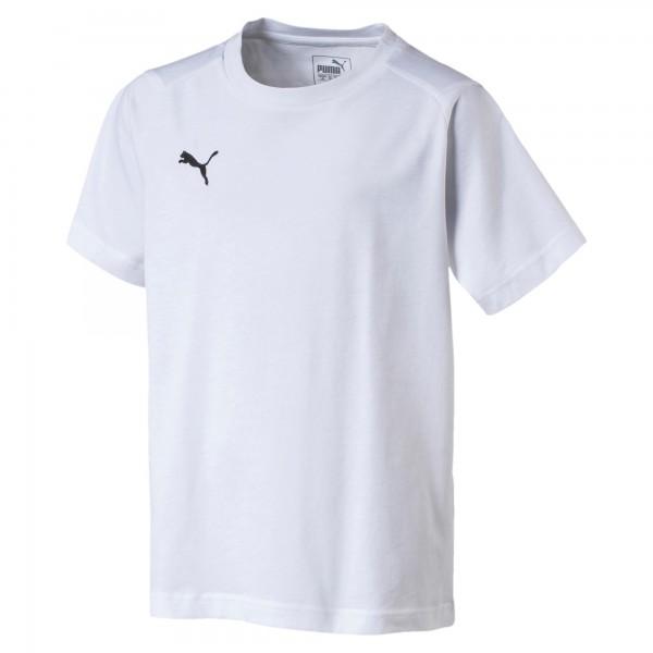 Puma LIGA Casuals Tee Jr Kinder T-Shirt 655634 (Weiß 04)