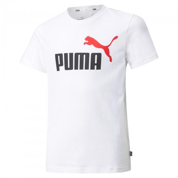 Puma Ess+ Col Logo Tee B Kinder T-Shirt 586985 (Weiß 57)