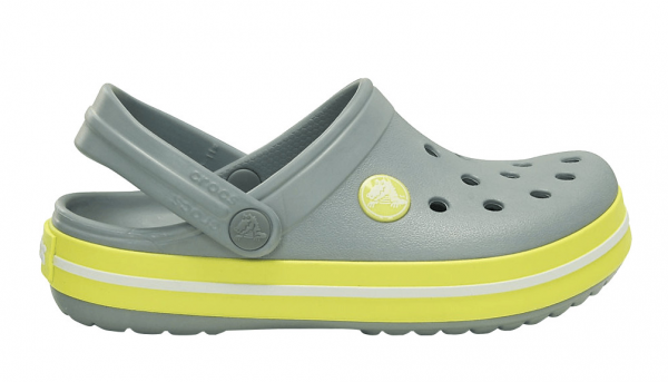 Crocs Crocband Kinder (Concrete/Chartreuse)