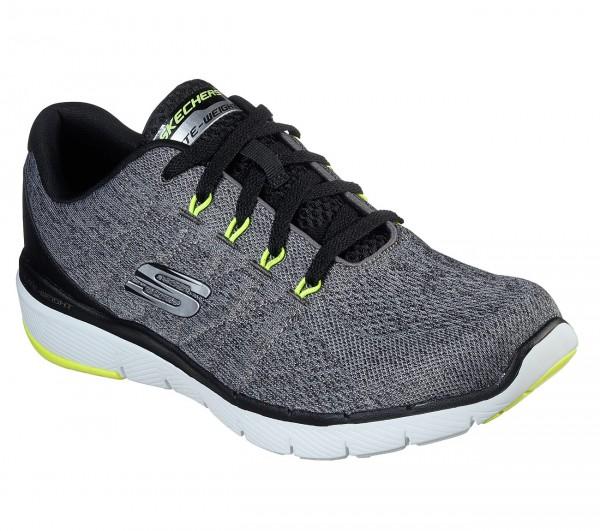 Skechers Flex Advantage 3.0 - Stally Herren Sneaker 52957 (Grau-GYBK)