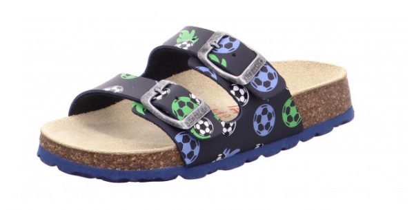 Superfit Fußbettpantoffel Kinder Schuhe 1-800111 (Blau 8020)