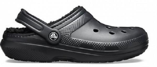 Crocs Classic Lined Clog Hausschuhe (Black/Black)