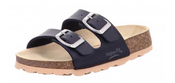 Superfit Fußbettpantoffel Kinder Schuhe 0-800111 (Blau 80)
