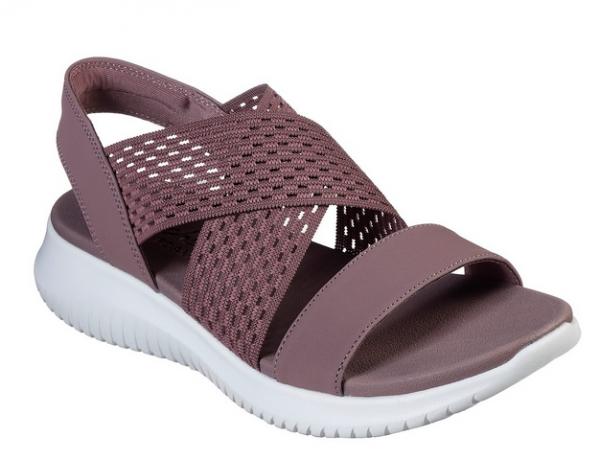 Skechers Ultra Flex - Neon Star Damen Sandale 32495 (Violett-MVE)