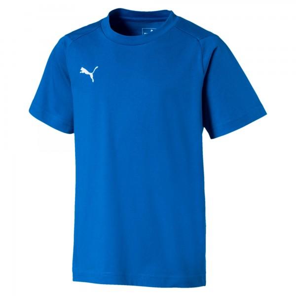 Puma LIGA Casuals Tee Jr Kinder T-Shirt 655634 (Blau 02)