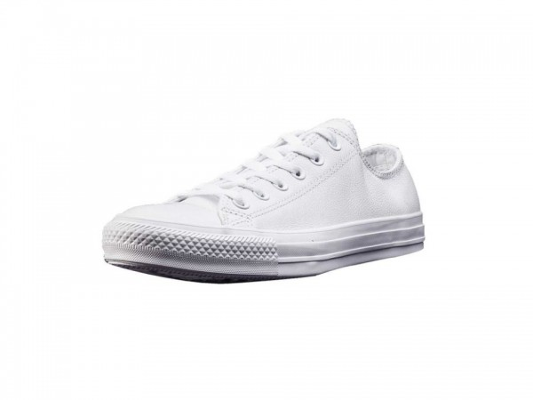 Converse Chucks Taylor All Star Low Leder Sneaker 136823C (weiß mono)