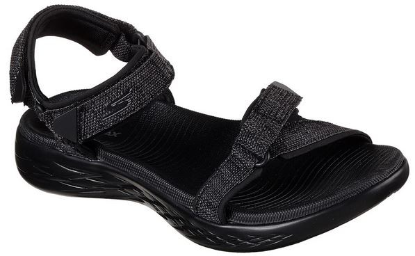 Skechers On the GO 600-Radiant Damen Sandale 15315 (Schwarz-BBK)
