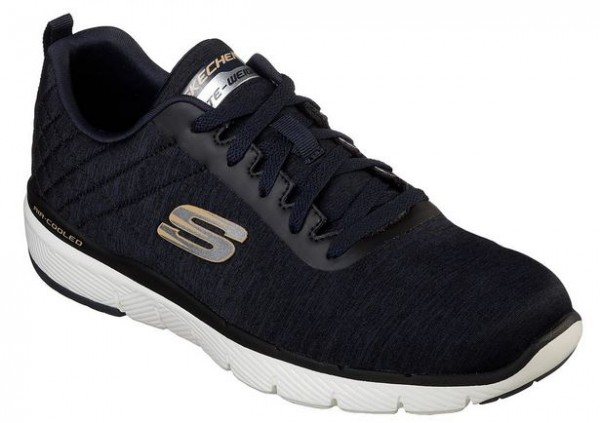 Skechers Flex Advantage 3.0 - Jection Herren Sneaker 52956 (Schwarz/Blau-NVBK)