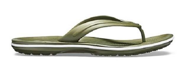Crocs Crocband Flip (Army Green/White)