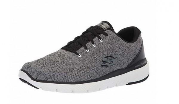Skechers Flex Advantage 3.0 - Stally Herren Sneaker 52957 (Grau-CCBK)
