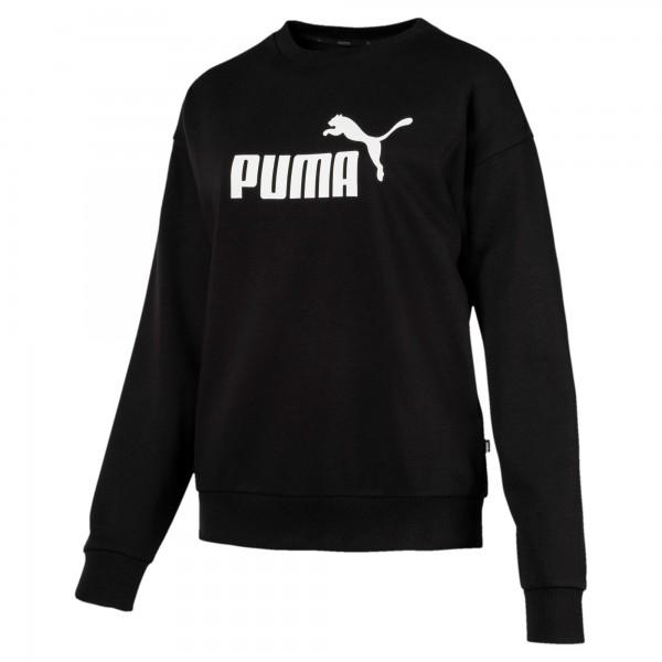 Puma ESS Logo Crew Sweat TR Damen Pullover (Schwarz 01)