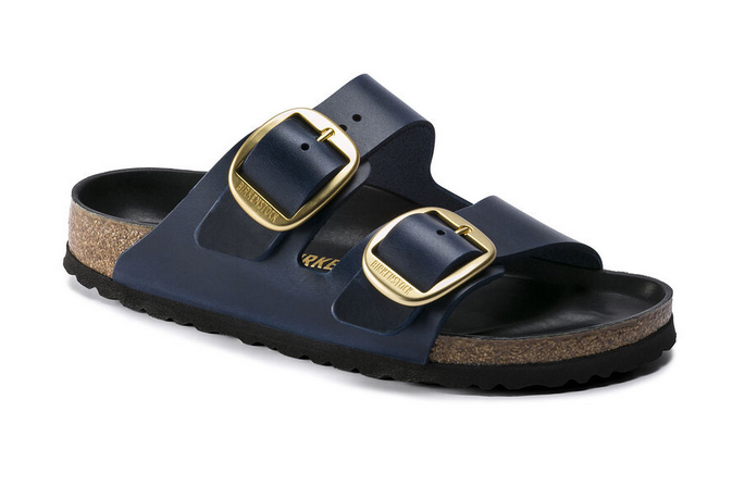Birkenstock Arizona Big Buckle NL Damen Sandale schmal 1014247 (Blau)