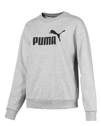 huge selection of cdbcc 3cc90 Puma ESS Logo Crew Sweat TR Damen Pullover (Grau 04)