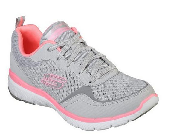 Skechers Flex Appeal 3.0 - Go Forward Damen Sneaker 13069 (Grau-LGHP)