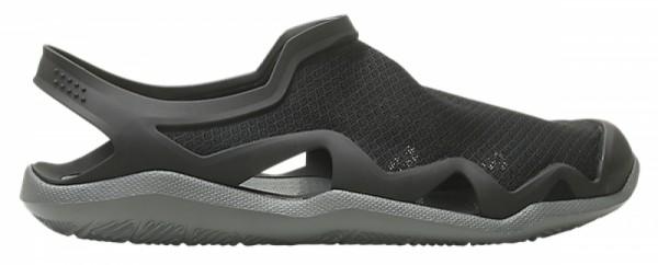 Crocs Swiftwater Mesh Wave Herren Sandale (Black/Slate Grey)