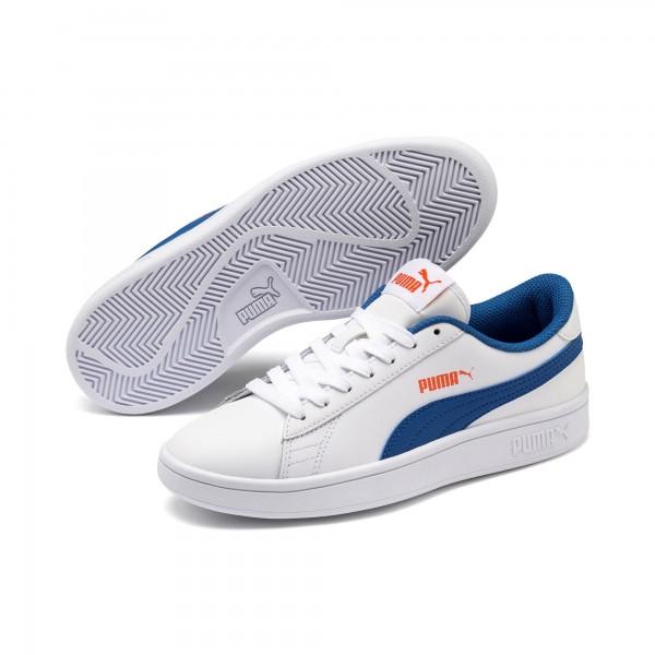 Puma Smash v2 L Jr Kinder Sneaker 365170 (Weiß 16)