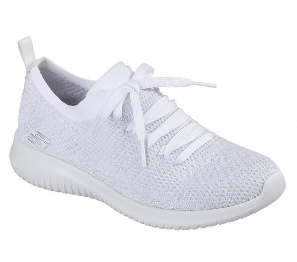 Skechers Ultra Flex Salutations Damen Sneaker 12843 (Weiß-WSL)