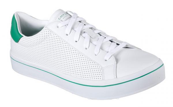 Skechers Hi-Lites - Gnirps Herren Sneaker 52434 (Weiß/Grün-WGR)