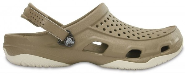 Crocs Herren Swiftwater Deck Clog (Khaki/Stucco)
