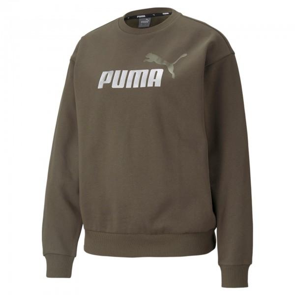 Puma Ess + Metallic Logo Crew FL / Damen Sweatshirt 586893 (Grün 44)