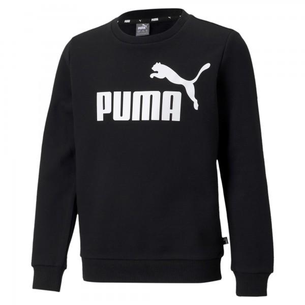 Puma ESS Big Logo Crew TR B Kinder Pullover 586964 (Schwarz 01)