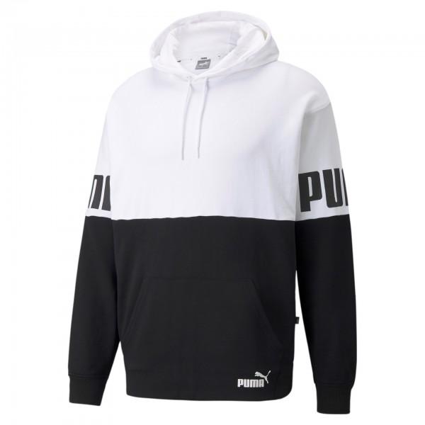 Puma Power Colorblock Herren Hoodie 589431 (Weiß 02)