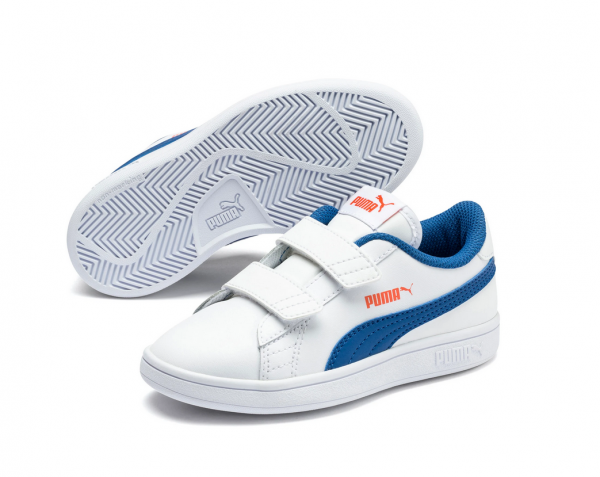 Puma Smash v2 L V PS Kinder Sneaker 365173 (Weiß 16)