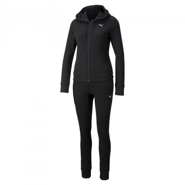 Puma Classic Hooded Sweat Suit FL Damen Trainingsanzug 589132 (Schwarz 01)