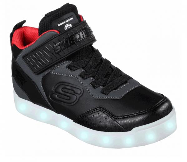 Skechers S Lights: Energy Lights – Merrox Kinder Sneaker (Schwarz-BKRD)