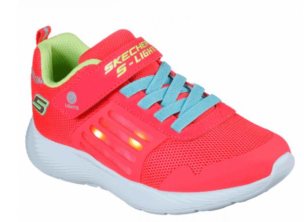 Skechers S Lights: Dyna-Lights Kinder Sneaker 20268L (Orange-NCOR)