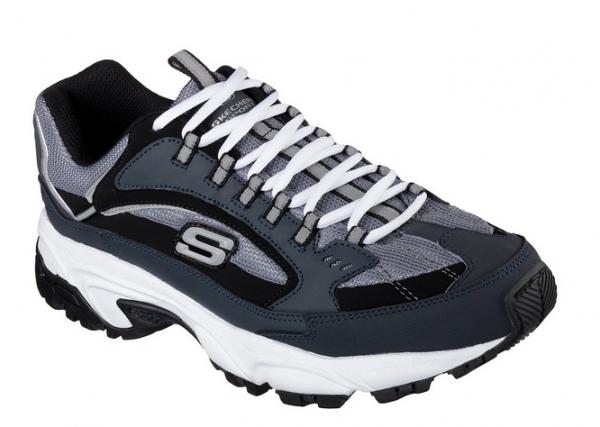 Skechers Stamina - Cutback Herren Sneaker 51286 (Blau-NVBK)