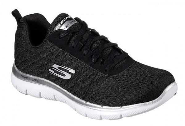 Skechers Flex Appeal 2.0 Break Free Damen Sneaker 12757 (Schwarz-BKW)
