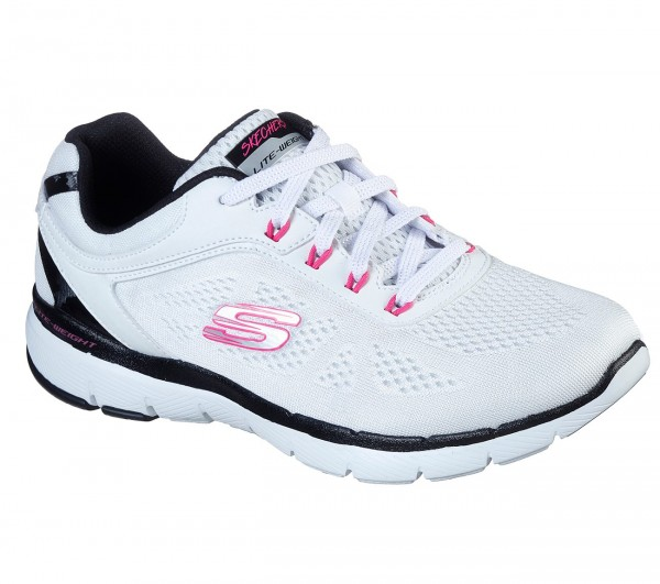 Skechers Flex Appeal 3.0 - Steady Damen Sneaker 13474 (Weiß-WBHP)