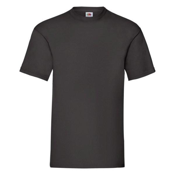 Fruit of the Loom Value-Weight Herren T-Shirt 61-036-0 (Schwarz 36)