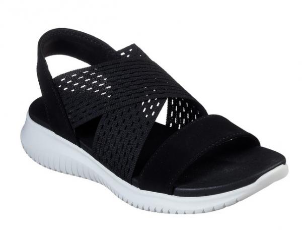 Skechers Ultra Flex - Neon Star Damen Sandale 32495 (Schwarz-BLK)