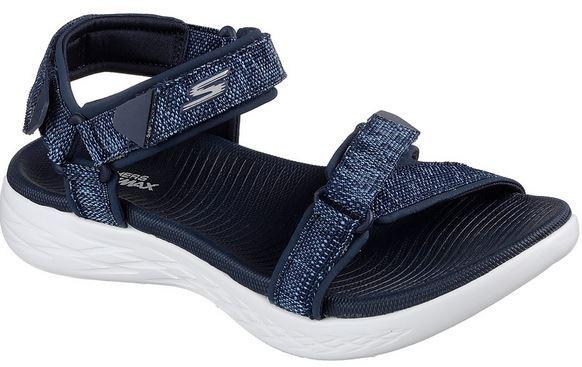 Skechers On the GO 600-Radiant Damen Sandale 15315 (Blau-NVW)