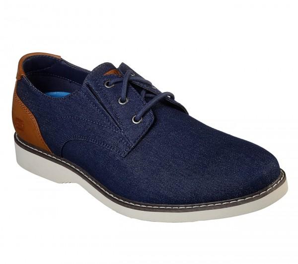 Skechers Parton - Wilcon Herren Schuhe 65925 (Blau-DEN)