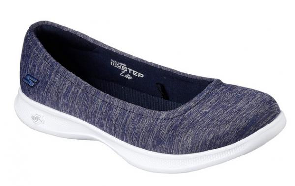 the best attitude bc2bb 6a515 Skechers GO STEP Lite – Streak Damen Schuhe (Blau-NVY)
