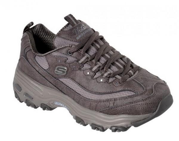 Skechers D'Lites - New School Damen Sneaker (Braun-DKTP)