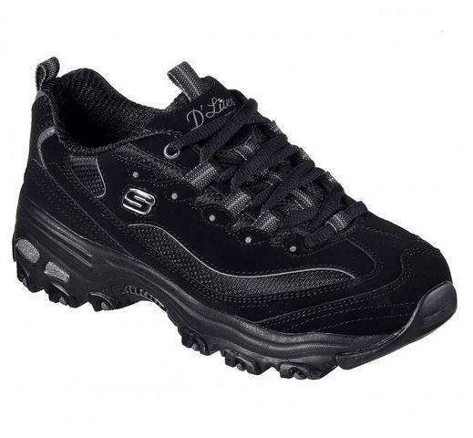 Skechers D'Lites - Biggest Fan Damen Sneaker 11930 (Schwarz-BBK)