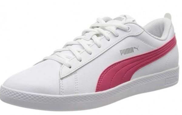 Puma Smash Wns V2 L Damen Sneaker 365208(Weiß/Pink-18)