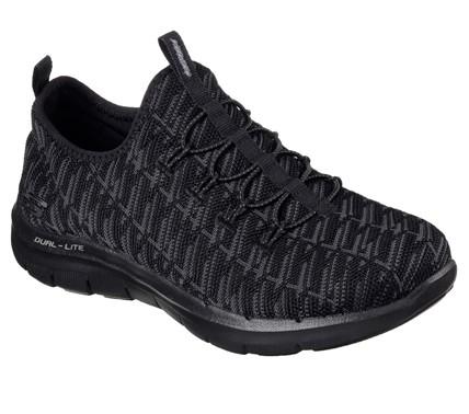 Skechers Flex Appeal 2.0 - Insights Damen Sneaker 12765 (Schwarz-BBK)