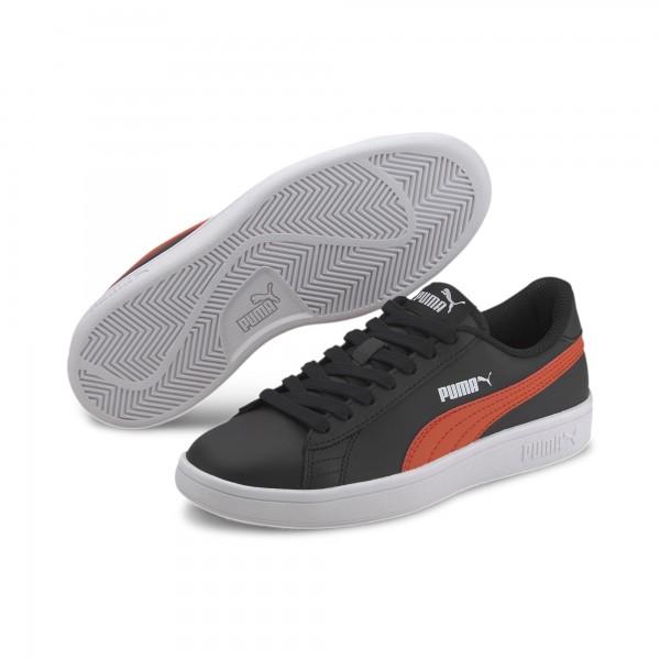 Puma Smash v2 L Jr Kinder Sneaker 365170 (Schwarz 22)