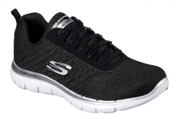 Skechers Flex Appeal 2.0 Break Free Damen Sneaker 12757 (Schwarz-BKW)