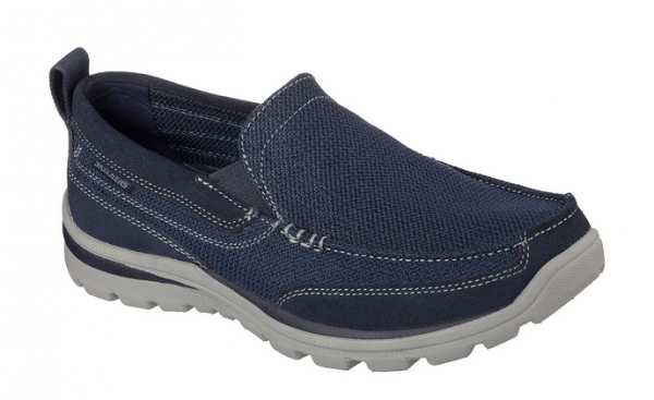 Skechers Relaxed Fit: Superior - Milford Herren Halbschuhe 64365 (Blau-NVY)