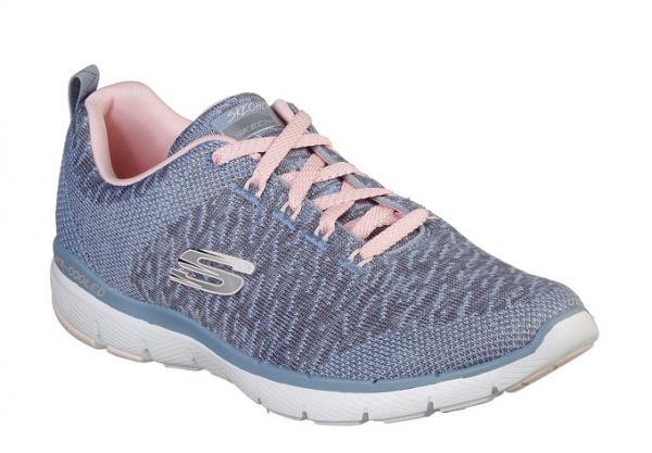 Skechers Flex Appeal 3.0 Damen Sneaker 13062 (Blau-SLTP)