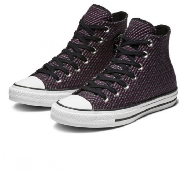 Converse Chucks Taylor All Star Hi 562461C Damensneaker (black/icon violet/cool grey)